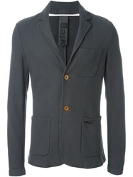 Bark Chest Pocket Blazer Grey