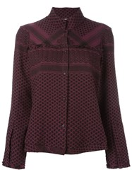 Cecilie Copenhagen 'Style' Multi Pattern Shirt Pink And Purple