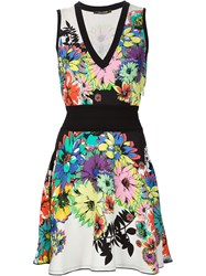 Roberto Cavalli Floral Print Skater Dress Multicolour