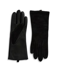 Lord And Taylor Suede Tech Gloves Black