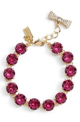 Women's Kate Spade New York 'Fancy That' Line Bracelet Fuschia