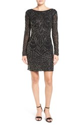 Lace And Beads Women's 'Brooklyn' Embellished Long Sleeve Sheath Dress