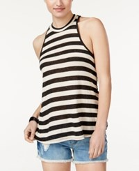 Volcom Juniors' Striped Racerback Tank Top Black Combo