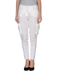 Pinko Grey Casual Pants White