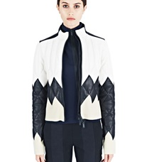 Paco Rabanne Diamond Quilted Leather Jacket White
