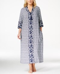 Charter Club Plus Size Paisley Print Long Caftan Only At Macy's