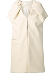 Delpozo Oversized Structured Gilet White