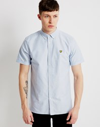 Lyle And Scott Short Sleeve Oxford Shirt Blue