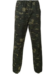 Alexander Wang Camouflage Print Trousers Green
