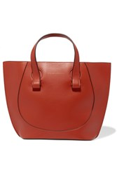 Victoria Beckham Tulip Small Leather Tote Orange