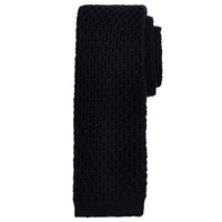 John Lewis And Co. Lebon Loop Knit Wool Tie Navy