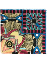 Givenchy Abstract Print Scarf Multicolour