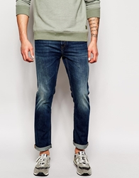 French Connection Mid Wash Jeans In Slim Fit Midblue