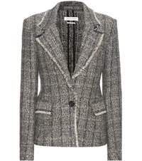 Etoile Isabel Marant Lacy Wool And Linen Blend Tweed Jacket Black