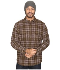Filson Northwest Wool Shirt Dark Tan Plaid Men's Clothing Brown