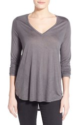 Women's Two By Vince Camuto High Low V Neck Slub Tee