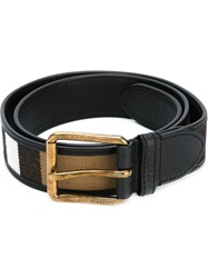 Burberry 'House Check' Print Belt Black
