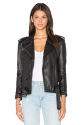 Understated Leather X Revolve Scrunch Sleeve Mc Jacket Black