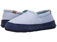 Acorn Moc Summerweight Blue Stripe Women's Slippers