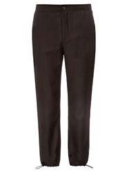 Acne Studios Pace Drawstring Cuff Flannel Wool Trousers Black