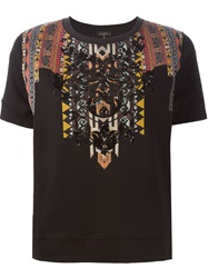 Etro Embellished Printed T Shirt Black