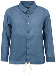 By Walid Drawstring Hem Shirt Blue