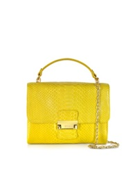Ghibli Python Mini Shoulder Bag Yellow