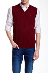 Gant Lightweight Wool Sweater Vest Red