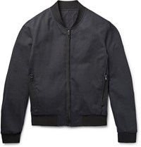 Wooyoungmi Wool Blend Bomber Jacket Midnight Blue