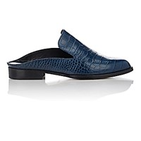 Robert Clergerie Women's Alicek Open Back Mules Navy