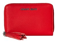 Armani Jeans Bifold Wallet With Tassle Detail Red Wallet Handbags