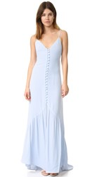 Flynn Skye Unbutton Me Maxi Dress Light Blue