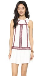 Moon River Contrast Lace Trimmed Dress Ivory