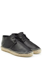 Robert Clergerie Leather Espadrilles Black