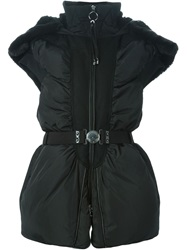 High Padded Hooded Jacket Black