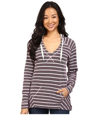 Columbia Tropic Haven Stripe Hoodie Purple Dahlia Stripe Women's Sweatshirt