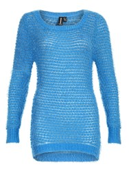 Izabel London Bobble Knitted Pullover Blue
