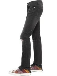 Roberto Cavalli 18Cm Distressed Cotton Denim Jeans