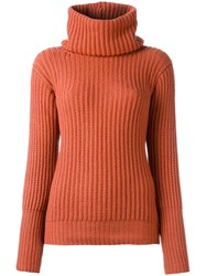 Antonia Zander High Neck Jumper Red
