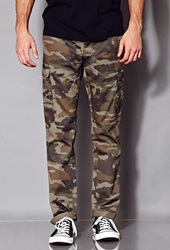 Forever 21 Combat Camo Pants Olive Brown