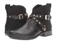 Naot Footwear Taku Black Raven Leather Black Velvet Nubuck Black Madras Leather Women's Boots