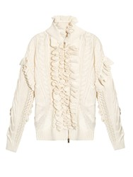 Stella Mccartney Multi Knit And Broderie Anglaise Cardigan