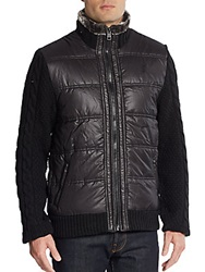 Buffalo David Bitton Mixed Media Jacket Black