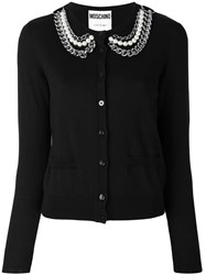 Moschino Chain Collar Cardigan Black