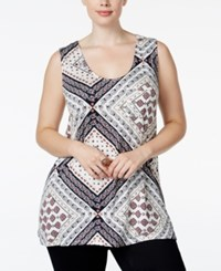 American Rag Plus Size Striped Tank Top Only At Macy's Classic Black Combo