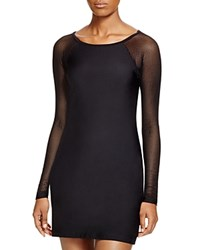 Dkny Scuba Dress Swim Cover Up Black