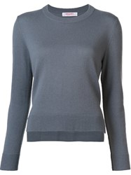 Organic By John Patrick Round Neck Cropped Pullover Grey