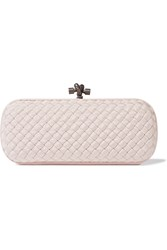 Bottega Veneta The Knot Intrecciato Faille Clutch