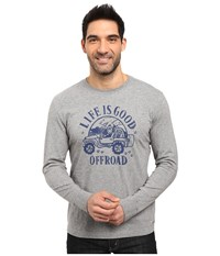 Life Is Good Lig Off Road Crusher Long Sleeve Heather Gray Men's Long Sleeve Pullover