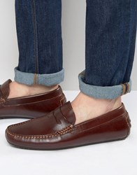 Aldo Gwiralian Leather Penny Loafer Driver Shoes Brown